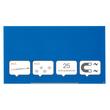 "Glas-Magnetboard Diamond Widescreen 85"" 106x188cm magnetisch blau Nobo 1905190 Produktbild Additional View 4 S"