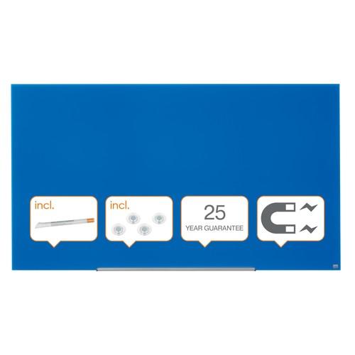 "Glas-Magnetboard Diamond Widescreen 85"" 106x188cm magnetisch blau Nobo 1905190 Produktbild Additional View 4 L"