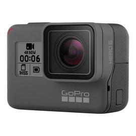 GoPro HERO6 Black - Action-Kamera - montierbar - 4K / 60 BpS - Wi-Fi, Bluetooth - Unterwasser bis zu 10 m Produktbild