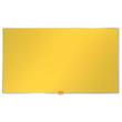 """Textil-Pinnwand mit Aluminiumrahmen Widescreen 32"""" 72x41cm gelb Nobo 1905318 Produktbild"""