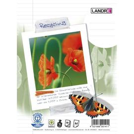 Collegeblock A4 liniert 4-fach Lochung Rand links 80Blatt 70g Recycling Landré 100050219 Produktbild