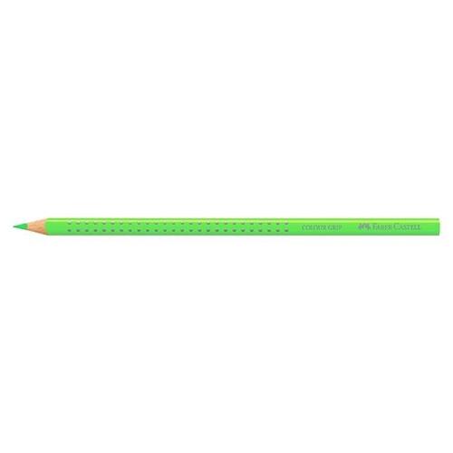 Farbstift mit Noppen COLOUR GRIP dreikant neon grün Faber Castell 112410 Produktbild