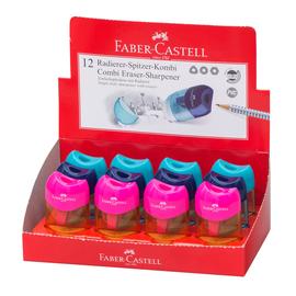 Spitzer Radierer Kombi Mini farbig sortiert Faber Castell 183604 Produktbild