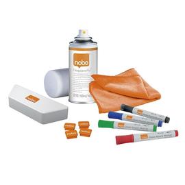 STARTER-SET für Glasboard Microfasertuch + Schaum + Marker + Magnete Nobo 1905330 Produktbild