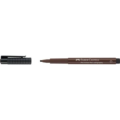 Tuschestift PITT ARTIST PEN Calligraphy 2,5mm breit sepia dunkel Faber Castell 167575 Produktbild Front View L