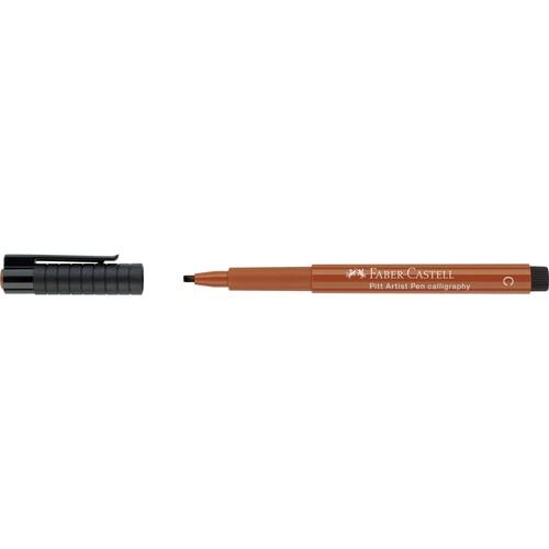Tuschestift PITT ARTIST PEN Calligraphy 2,5mm breit rötel Faber Castell 167588 Produktbild Front View L
