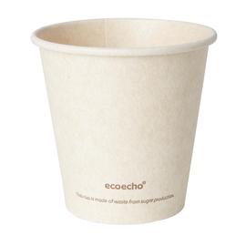 Coffee to Go Becher 0,18l Ø80mm Bagasse+PLA ecoecho Duni 182531 (PACK=50 STÜCK) Produktbild