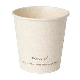 Coffee to Go Becher 0,12l Ø60mm Bagasse+PLA ecoecho Duni 182530 (PACK=50 STÜCK) Produktbild