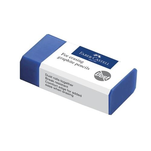 Radiergummi DUST-FREE 63x11x22mm blau Kunststoff Faber Castell 187170 Produktbild Additional View 1 L