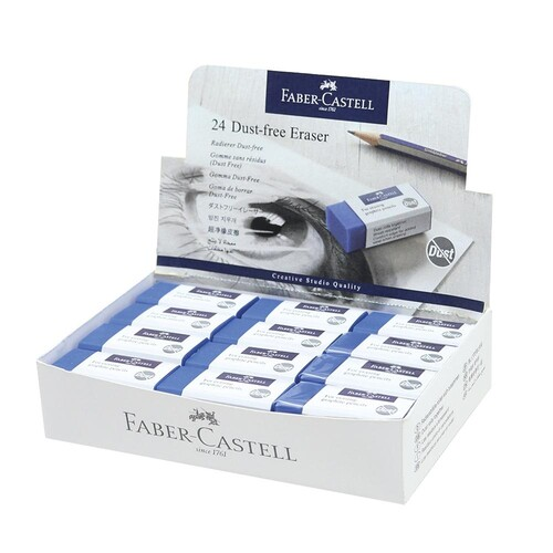 Radiergummi DUST-FREE 63x11x22mm blau Kunststoff Faber Castell 187170 Produktbild