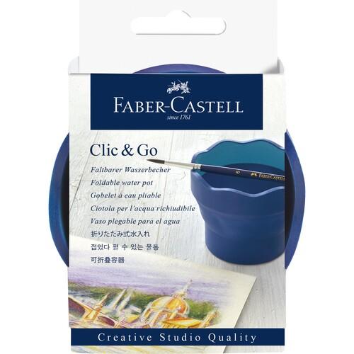 Wasserbecher CLIC & GO blau Faber Castell 181540 Produktbild Front View L