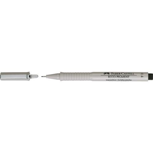 Fineliner Ecco Pigment 0,4mm schwarz Faber Castell 166499 Produktbild Front View L
