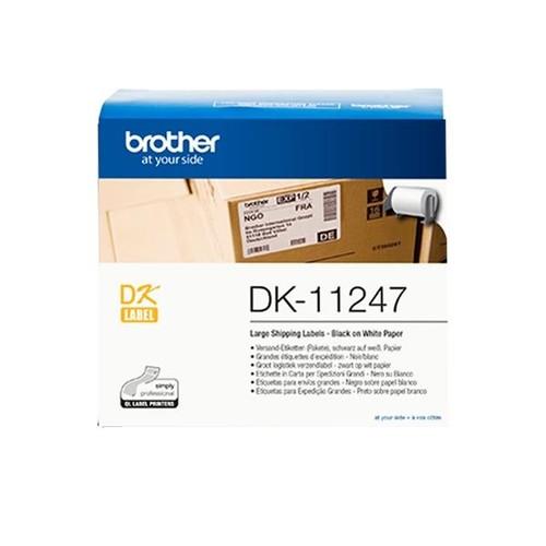 Einzeletikettenrollen Versand-Etiketten 103x164mm Thermopapier Brother DK-11247 (PACK=180 STÜCK) Produktbild Additional View 1 L