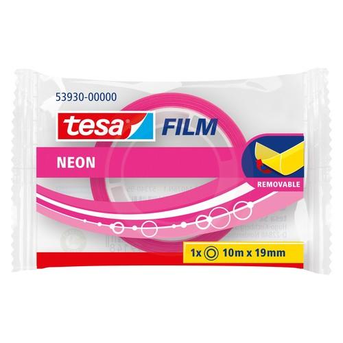 Klebefilm neon 19mm x 10m pink/gelb Tesa 53930-00000 Produktbild Additional View 1 L