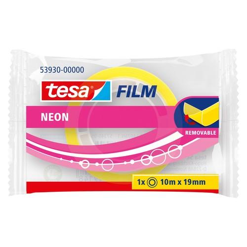 Klebefilm neon 19mm x 10m pink/gelb Tesa 53930-00000 Produktbild Additional View 2 L