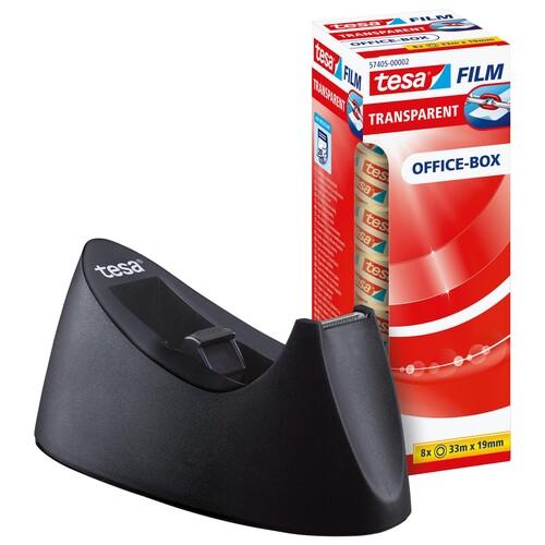 Tischabroller + 8Rollen Tesafilm füllbar bis 19mm x 33m schwarz Tesa 53918-00000-00 Produktbild