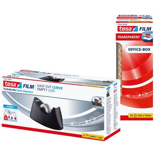 Tischabroller + 8Rollen Tesafilm füllbar bis 19mm x 33m schwarz Tesa 53918-00000-00 Produktbild Additional View 3 L