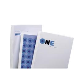 Thermo-Bindemappen ThermaBind A4 40mm transparent/weiß Karton GBC IB370137 (PACK=50 STÜCK) Produktbild