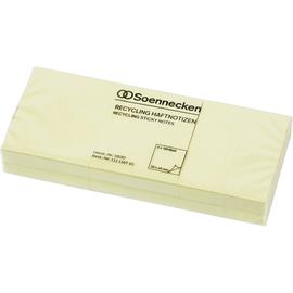 Haftnotizen 50x40mm Recycling Notes gelb Papier BestStandard (PACK=6x 100 BLATT) Produktbild