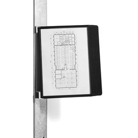 Sichttafelständer VARIO MAGNET WALL 10 mit 10 schwarzen Sichttafeln magnetisch Durable 5918-01 Produktbild