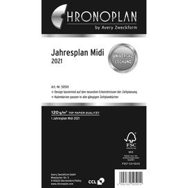 Jahresplan 2021 für Organizer Midi 96x172mm Chronoplan 50501 Produktbild
