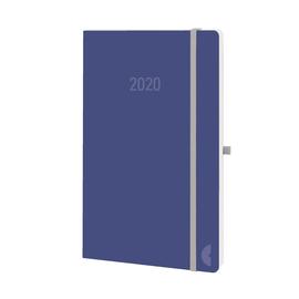 Buchkalender Chronobook 2020 A5 1Woche/2Seiten soda Leinenprägung Softcover Chronoplan 50760 Produktbild