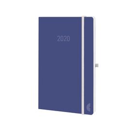 Buchkalender Chronobook 2020 Mini 1Woche/2Seiten soda Leinenprägung Softcover Chronoplan 50770 Produktbild