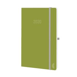 Buchkalender Chronobook 2020 A5 1Woche/2Seiten moss Leinenprägung Softcover Chronoplan 50780 Produktbild