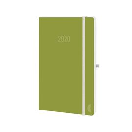 Buchkalender Chronobook 2020 Mini 1Woche/2Seiten moss Leinenprägung Softcover Chronoplan 50790 Produktbild