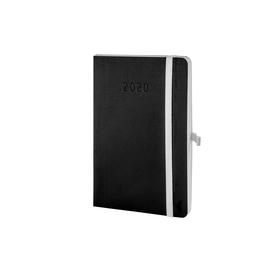Buchkalender Chronobook 2020 Mini 1Woche/2Seiten schwarz Leinenprägung Chronoplan 50960 Produktbild