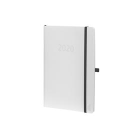 Buchkalender Chronobook 2020 Mini 1Woche/2Seiten weiß Leinenprägung Chronoplan 50970 Produktbild