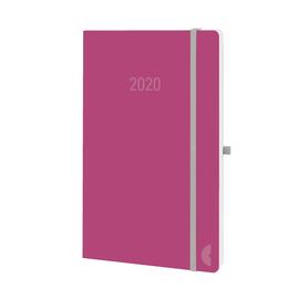 Buchkalender Chronobook 2020 A5 1Woche/2Seiten red Leinenprägung Chronoplan 50980 Produktbild