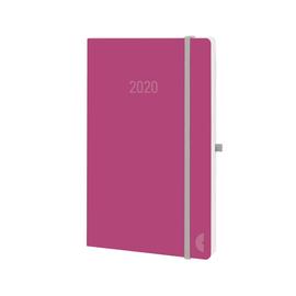 Buchkalender Chronobook 2020 Mini 1Woche/2Seiten red Leinenprägung Chronoplan 50990 Produktbild