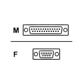 Roline - Kabel seriell - DB-9 (W) bis DB-25 (M) - 0.3 m Produktbild