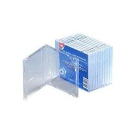 CLICKBOX - Behälter CD-Aufbewahrung - Kapazität: 1 CD - durchsichtig (Packung mit 10) Produktbild