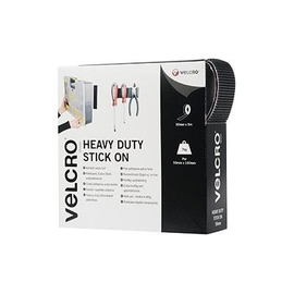 VELCRO Brand Heavy Duty Stick On - Selbstklebendes Klettband - 5 cm x 5 m - Schwarz Produktbild