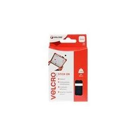 VELCRO Brand Stick On - Selbstklebendes Klettband - 25 mm x 25 mm - Schwarz (Packung mit 24) Produktbild