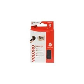 VELCRO Brand Stick On - Selbstklebendes Klettband - 2 cm x 1 m - Schwarz Produktbild