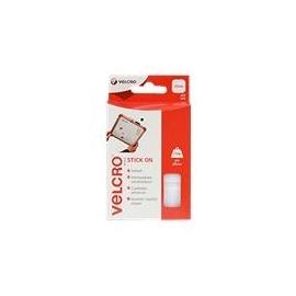 VELCRO Brand Stick On - Selbstklebendes Klettband - 25 mm x 25 mm - weiß (Packung mit 24) Produktbild