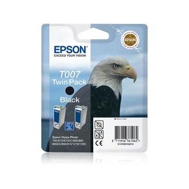 Epson T007 Twin Pack - 2er-Pack - 16 ml - Schwarz - Original - Blisterverpackung Produktbild