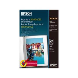 Epson Premium Semigloss Photo Paper - Halbglänzend - A4 (210 x 297 mm) 20 Blatt Fotopapier - für Expression Home Produktbild