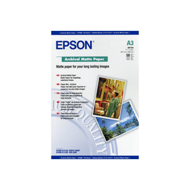 Epson Archival Matte Paper - Matt - A3 (297 x 420 mm) - 192 g/m² - 50 Blatt Papier - für SureColor P5000, P800, Produktbild