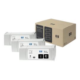 HP 81 - 3er-Pack - 680 ml - Schwarz - Original - Tintenpatrone Produktbild