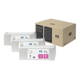 HP 81 - 3er-Pack - Magenta - Original - Tintenpatrone - für DesignJet 5000, 5000ps, 5000ps uv, 5000uv, 5500, 5500 Produktbild