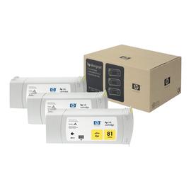 HP 81 - 3er-Pack - 680 ml - Gelb - Original - Tintenpatrone Produktbild