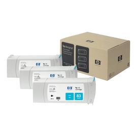 HP 83 - 3er-Pack - Cyan - Original - Tintenpatrone - für DesignJet 5000, 5000ps, 5000ps uv, 5000uv, 5500 uv, Produktbild