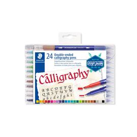 Doppel-Fasermaler Kalligraphy Etui 2+3,5mm sortiert Staedtler 3005TB24 (ETUI=24 STÜCK) Produktbild