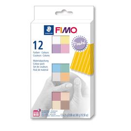 Modelliermasse-Materialpackung FIMO soft Pastel Colours ofenhärtend 12x25g sortiert Staedtler 8023C12-3 Produktbild