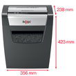 Aktenvernichter Momentum X410 für 10Blatt 4x28mm Partikelschnitt Rexel 2104571EU (Sicherheitsstufe P-4) Produktbild Additional View 3 S
