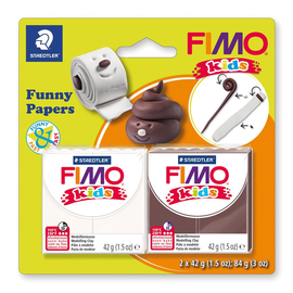 Modelliermasse FIMO Kids ofenhärtend Funny papiers 2x42g sortiert Blister Staedtler 8035 17 Produktbild